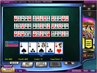 888 Aces and Faces 10 Hand Poker