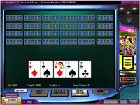 888 Aces and Faces 25 Hand Poker