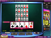 888 Aces and Faces 5 Hand Poker