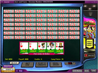 888 Aces and Faces 50 Hand Poker