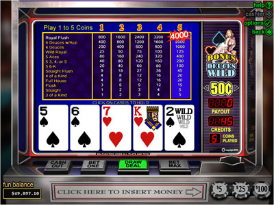 Bonus Deuces Wild Poker by RTG