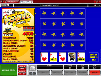Deuces Wild Power Poker : Microgaming