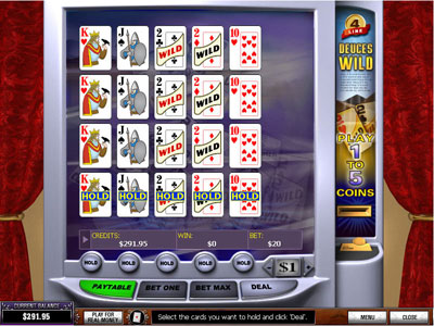 Deuces Wild 4-line Video Poker : PlayTech