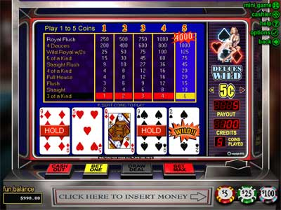 Deuces Wild Video Poker by RTG