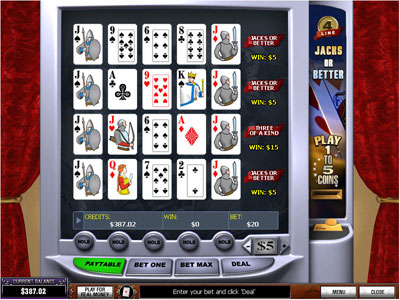 Jacks or Better 4-line Video Poker by PlayTech