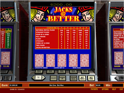Jacks or Better Video Poker by Parlay