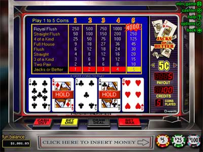 Jacks or Better Video Poker by RTG