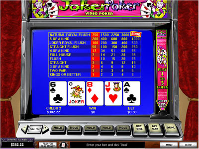 Joker Poker by PlayTech