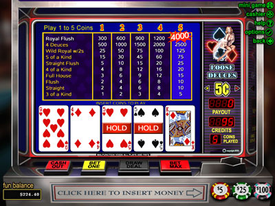 Loose Deuces Video Poker by RTG