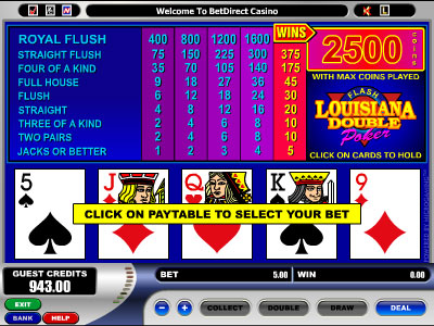 Louisiana Double Video Poker by Microgaming