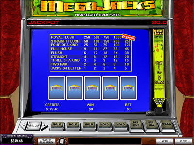 MegaJacks Video Poker by PlayTech