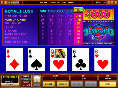 Tens or Better Video Poker by Microgaming