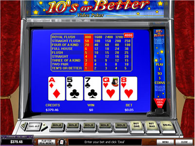 Tens or Better Video Poker by PlayTech