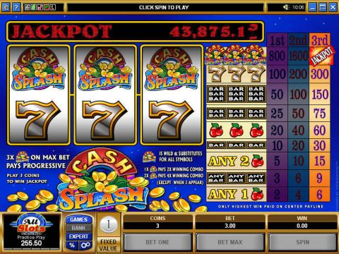 Cash Splash Slot Reels