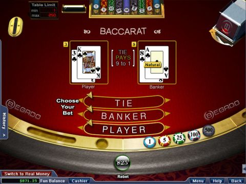 Baccarat Card Table ScreeenShot