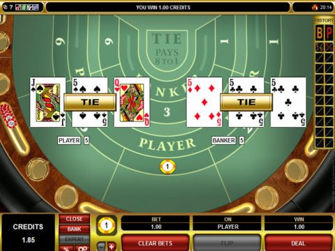 High Limit Baccarat Card Table ScreeenShot