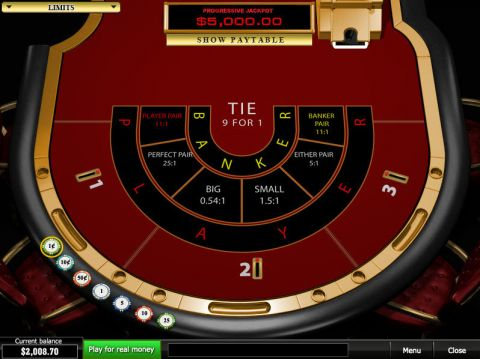 Progressive Baccarat Card Table ScreeenShot