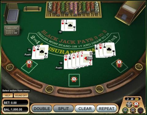 European Blackjack Table Table ScreeenShot