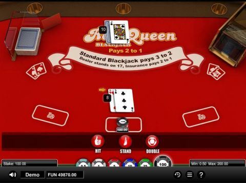 Red Queen Blackjack BlackJack Table ScreeenShot