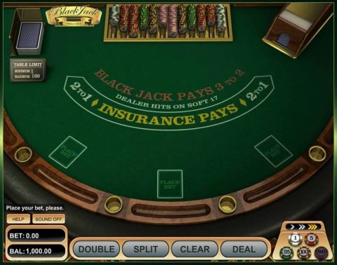 Single Deck Blackjack Table Table ScreeenShot