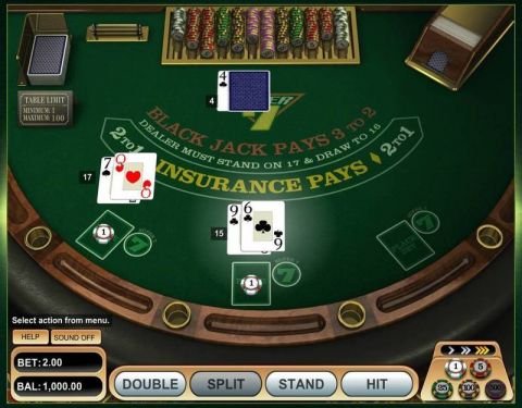 Super 7 Blackjack Table Table ScreeenShot