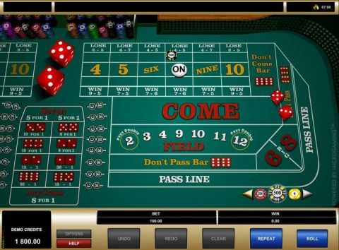 Craps Table Table ScreeenShot