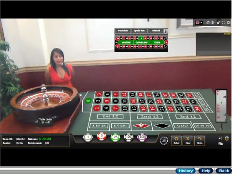 European Roulette Live Table Table ScreeenShot