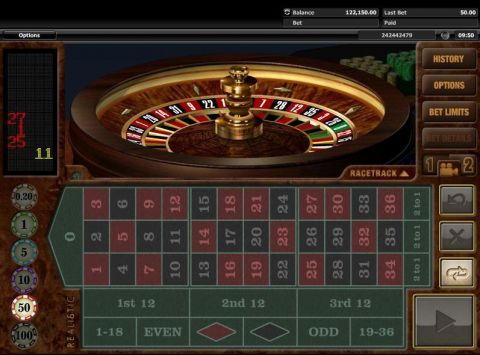 European Roulette Roulette Table ScreeenShot