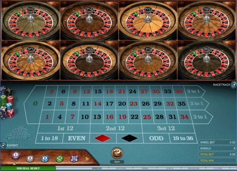 Multi-Wheel European Roulette Gold Table Table ScreeenShot