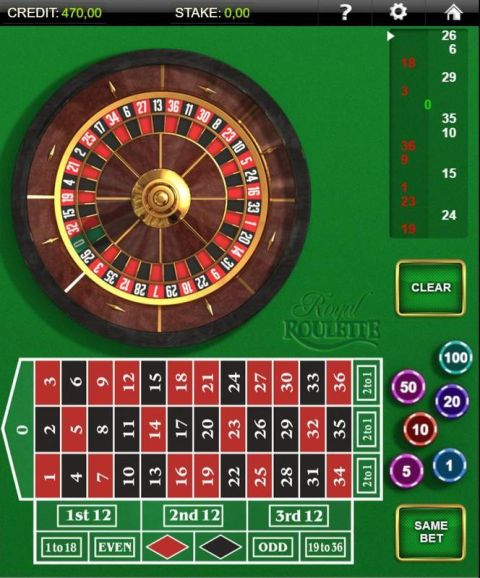 Royal Roulette Roulette Table ScreeenShot