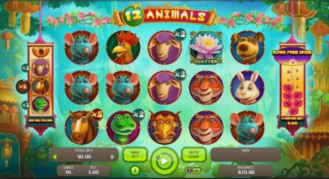 12 Animals Slot Slot Reels