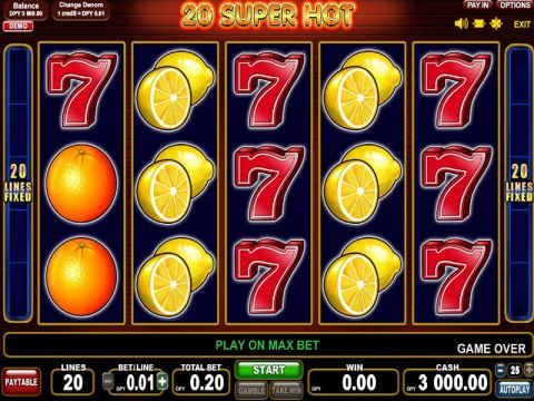 20 Super Hot Slot Slot Reels