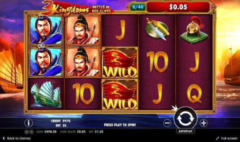 3 Kingdoms – Battle of Red Cliffs Slot Slot Reels