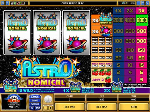 Astronomical Slot Slot Reels