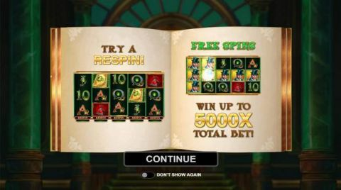 Book of Oz Slot Bonus 1
