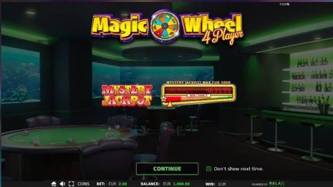 Magic Wheel 4 Player Slot Info