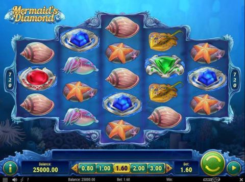 Mermaid's Diamonds Slot Slot Reels