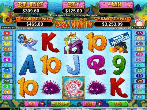 Ocean Oddities Slot Slot Reels