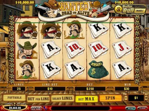 Wanted Dead or Alive Slot Slot Reels