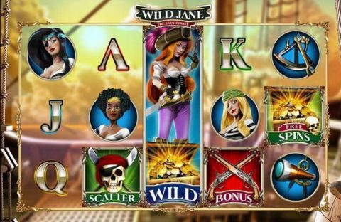 Wild Jane, the Lady Pirate Slot Slot Reels