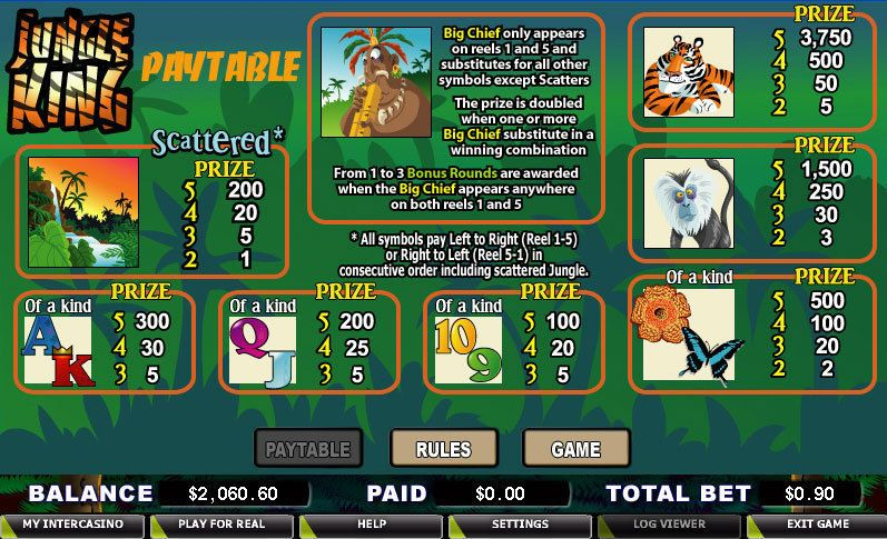 Jungle king slot machine