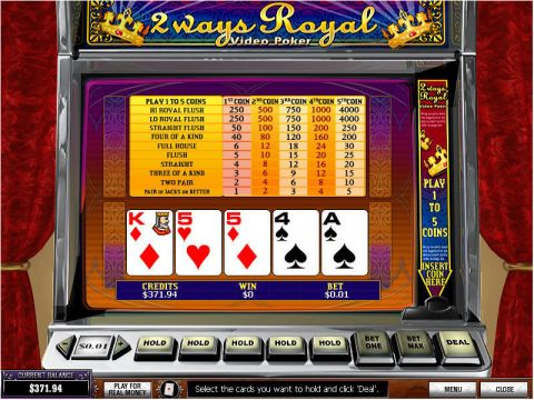 2 Ways Royal Poker Video Poker Main