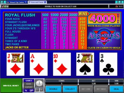 Aces and Faces Poker Video Poker Main