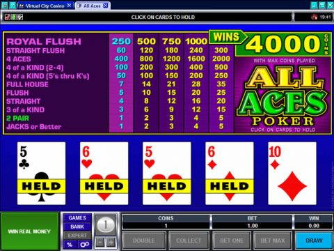 All Aces Poker Video Poker Main