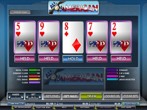 All American Poker Video Poker Bonus 3