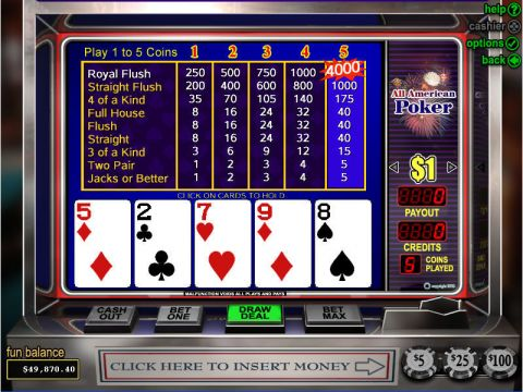 All American Poker Video Poker Main
