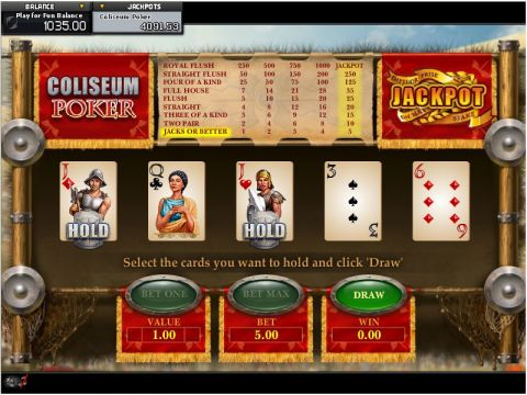 Coliseum Poker Video Poker Main