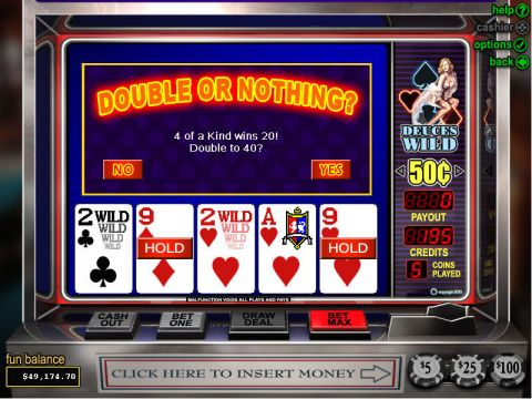 Deuces Wild Poker Video Poker Main