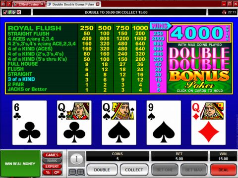 Double Bonus Poker Video Poker Main