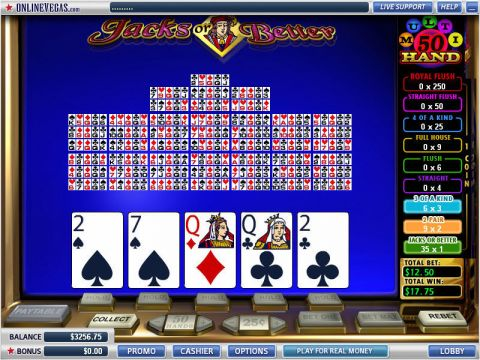 Jacks or Better 50 Hands Poker Video Poker Main